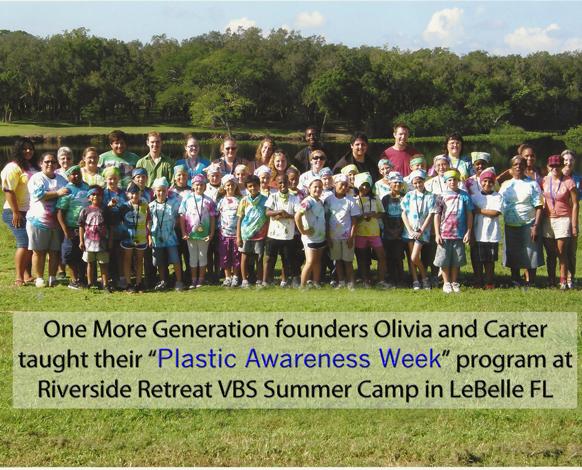 Plastic Awareness Week Program at Riverside Retreat