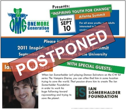 "OMG ""Inspiring Youth For Change"" Summit Postponed"