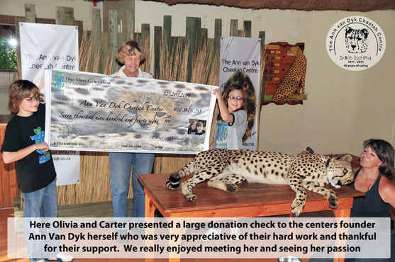 The Ann van Dyk Cheetah Centre in South Africa
