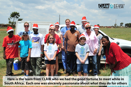 OMG Founders Deliver Christmas Cheer in South Africa with the Help From Our Friends at CLAW and IFAW