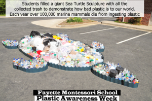 School Art Project for Plastic Awareness Week