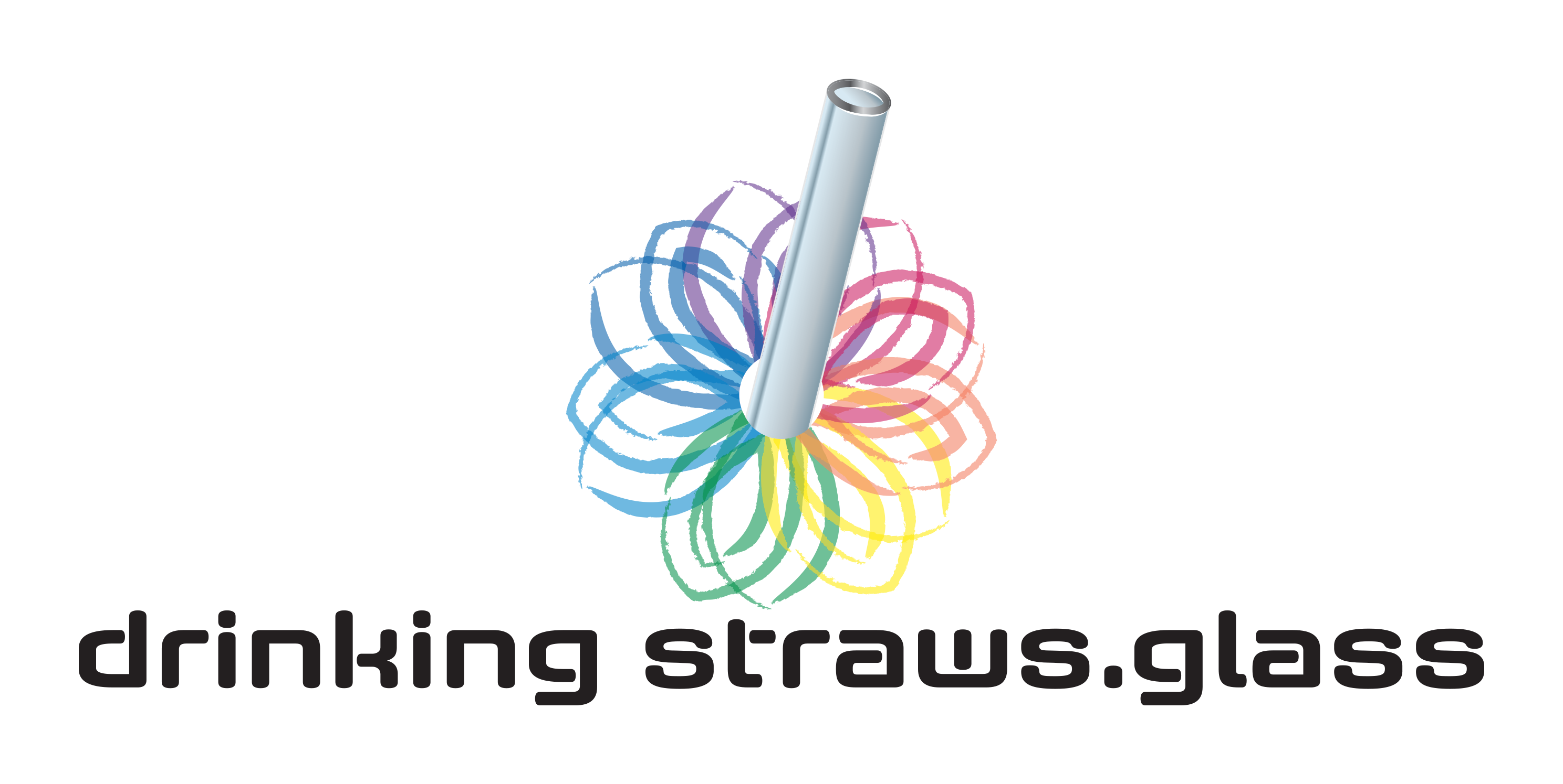 Drinking Straws.Glass