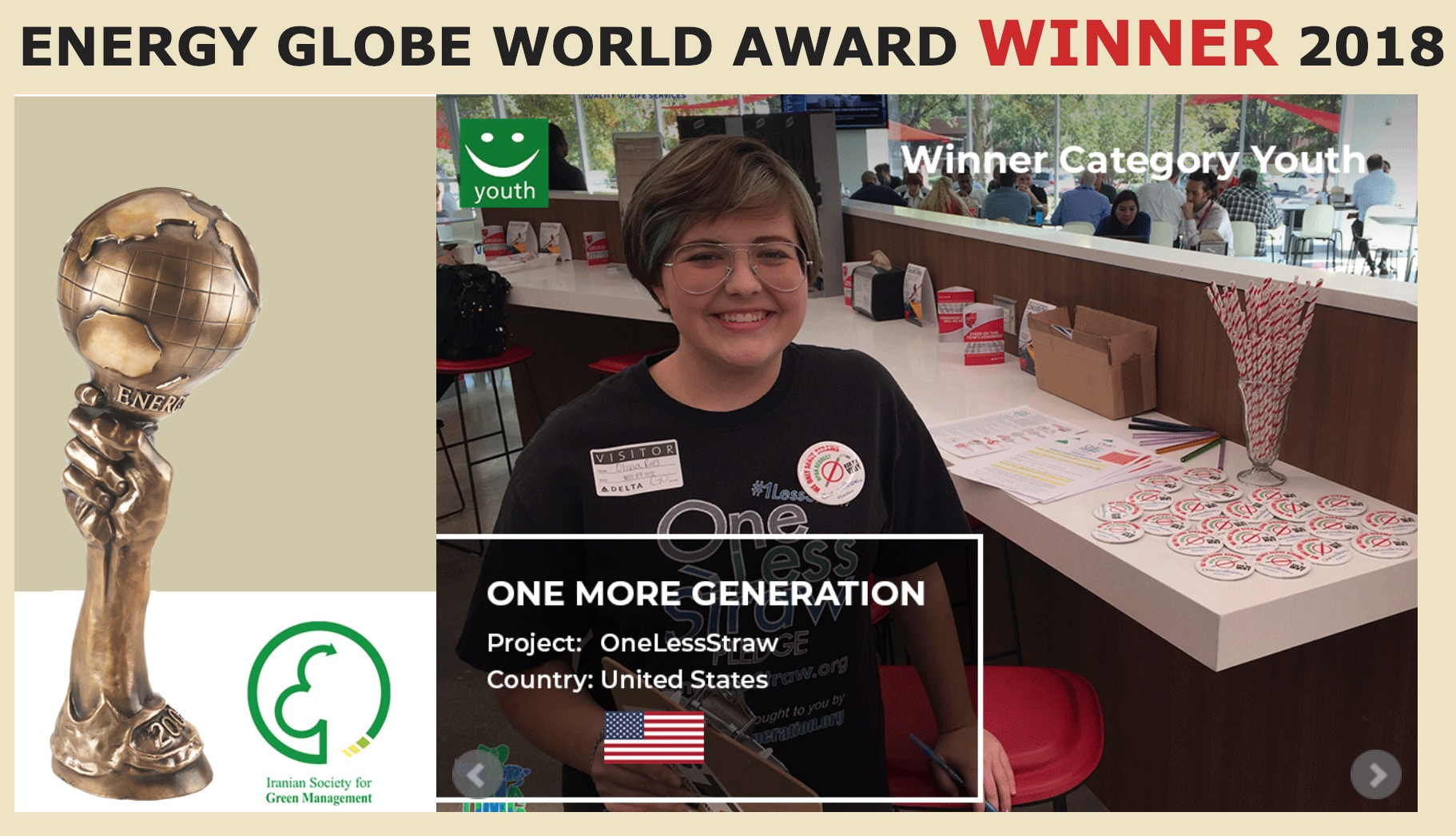 OMG Wins 2018 Energy Globe Award